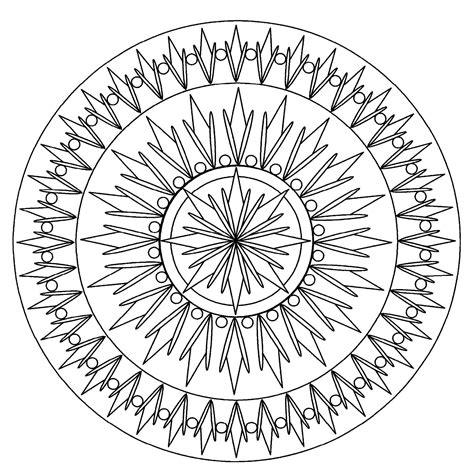 Mandala Facile 2 Mandalas Coloriages Difficiles Pour