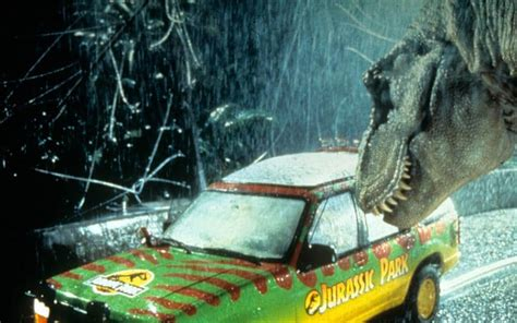 jurassic park car trex stan winston the who made spielberg s t rex roar