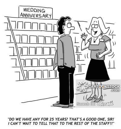 silver wedding anniversary cartoons and comics funny