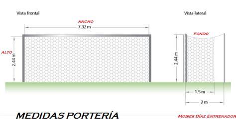 porteria de futbol sala medidas dimensiones de las canastas y las porter 237 as