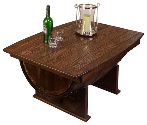 Barrell Coffee Table Whiskey Barrel Coffee Table Rustic Coffee Tables By Napa East Collection