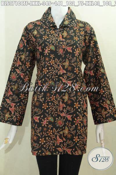 Baju Korpri Wanita Furing Size pakaian batik wanita karir desain terkini yang lebih mewah baju blus batik motif bunga proses
