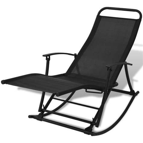Rocking Chair Garden Vidaxl Foldable Garden Rocking Chair Black Vidaxl Co Uk