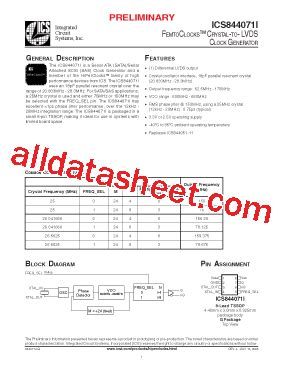 all about integrated circuits pdf ics844071i datasheet pdf integrated circuit systems