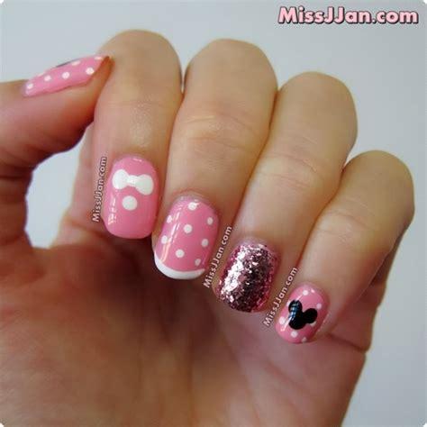 tutorial nail art minnie missjjan s beauty blog disney minnie mouse inspired