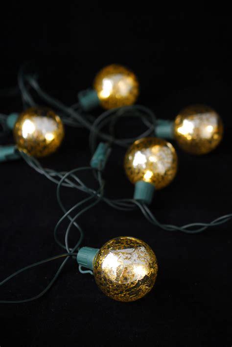Mercury Glass Globe String Lights 10ct 9ft Green Cord Glass String Lights