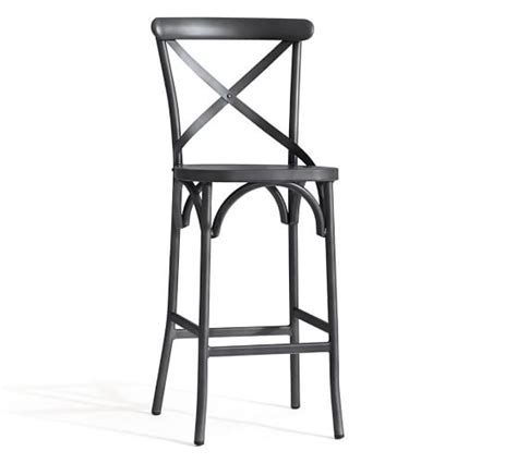 75 off bamboo and metal bar stools chairs abbott ultimate bar x back barstool set pottery barn
