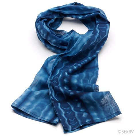 scarves indigo ripple scarf