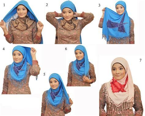 tutorial hijab dengan jilbab segitiga cara memakai jilbab segitiga tutorial hijab