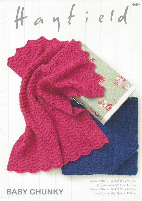 hayfield knitting patterns for babies hayfield baby chunky 4684 blankets knitting pattern