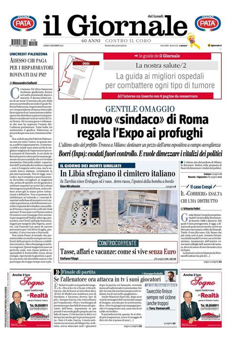 ultime notizie di politica interna le prime pagine dei quotidiani che sono in edicola oggi 2
