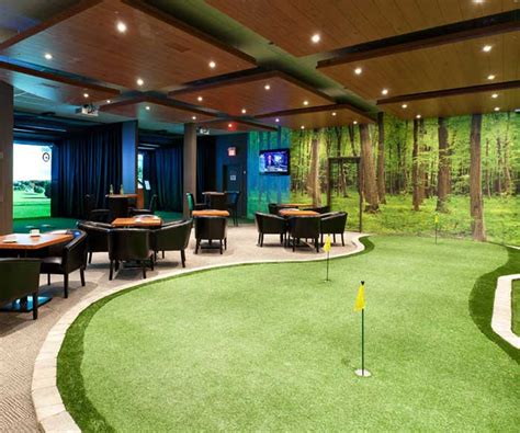 room design simulator bar putting green indoor golf simulator jpg pinterest