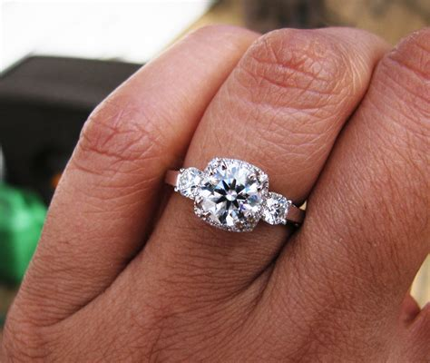 Showing Engagement Ring by Show Time Show Me Your Three Engagement Rings