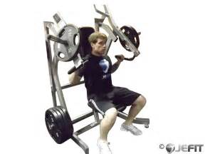 Leverage Incline Chest Press Exercise Database Jefit