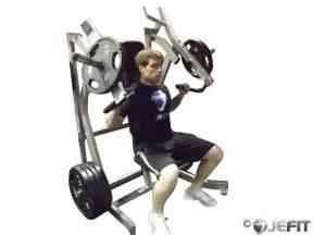 Leverage incline chest press exercise database jefit best