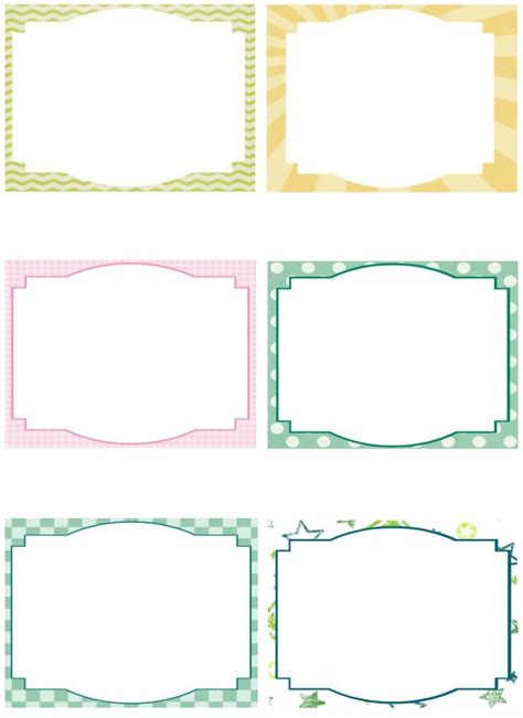 Free Printable Card Templates