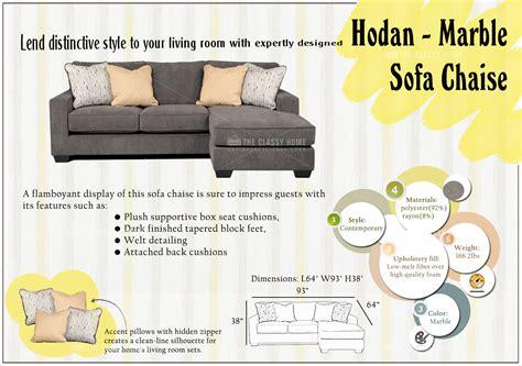hodan marble sofa chaise ashley hodan marble sofa chaise reviews refil sofa