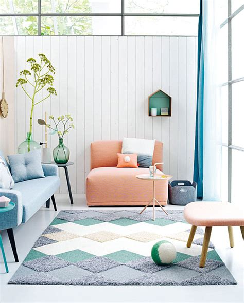 diy living room rug modern pastel style