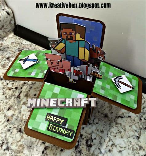 the 25 best minecraft birthday card ideas on pinterest minecraft party bags mind