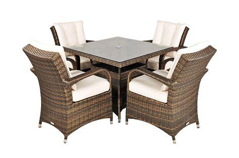 arizona 4 seat garden furniture dining set modern