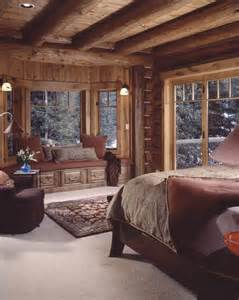 Warm and cozy cabin bedroom bebe love this cabin style decor