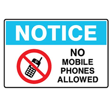 not mobile notice no mobile phones allowed