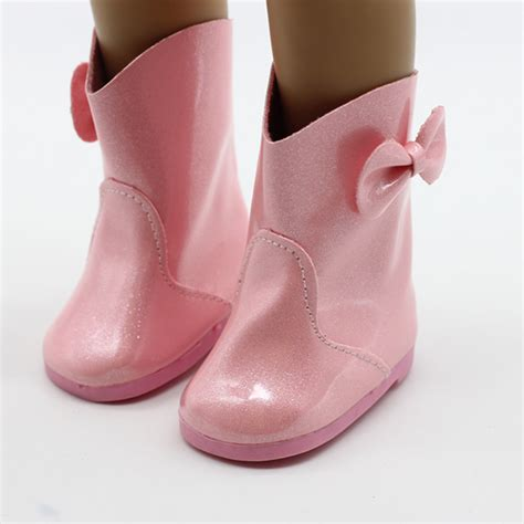 clothes and shoes new style pink doll shoes fits for 18 american doll