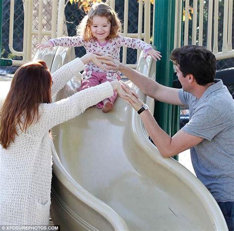 Alyson Hannigan monkeys around with daughter Satyana on