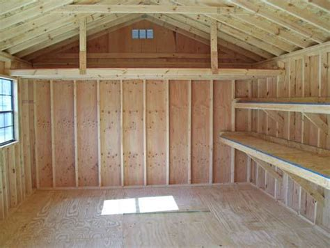 How To Build A Shelf In A Shed by Storage Shed Shelving Ideas Easy Diy Shedfreepdfplans