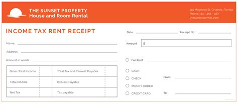 Rent Receipt Template For Income Tax by Free Income Tax Rent Receipt Template In Adobe Illustrator