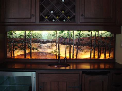 Bar Backsplash Ideas by Bar Backlit Backsplash