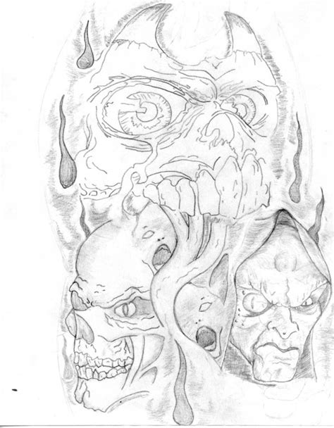 evil half sleeve tattoo designs half sleeve drawing designs at getdrawings