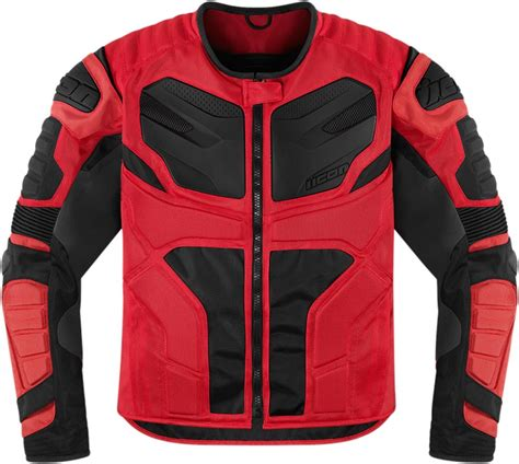 red and black motorcycle jacket icon overlord resistance textile motorcycle jacket red