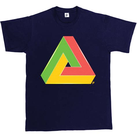 T Shirt Triangle impossible triangle t shirt geometry optical illusion