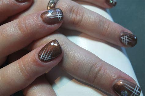 Deco Ongle Marron ongles marron glac 233 et d 233 cos blanc et argent cocci nail