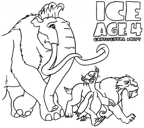 Ice Age Coloring Pages Pdf | download tiger in ice age animal coloring pages or print