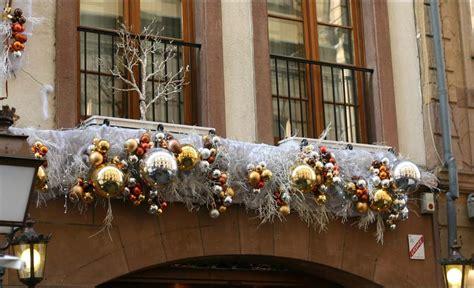 Decorations De Noel Exterieur by D 233 Coration Noel Sur Balcon