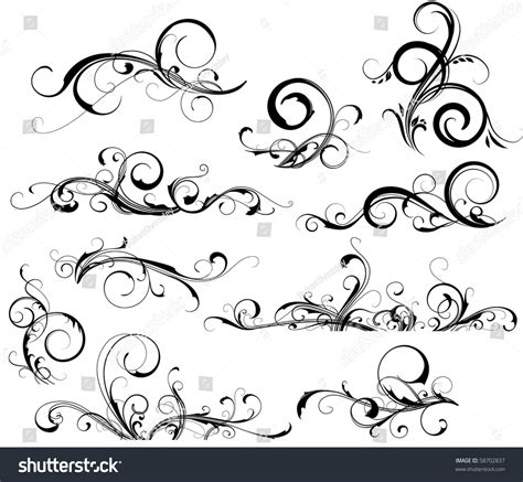 shutterstock design elements and layout collection of design elements stock vector illustration