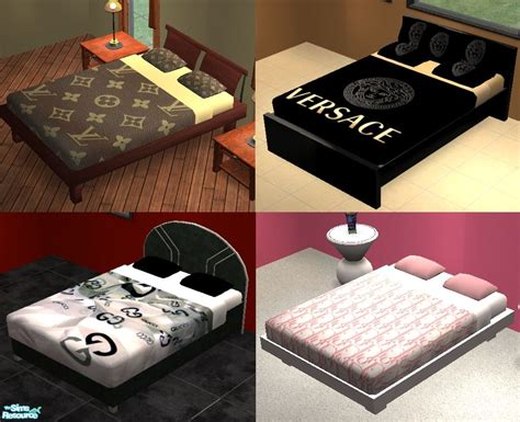 gucci bed mod the sims designer bedding set