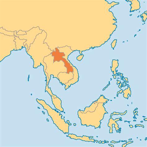 laos on the world map laos operation world