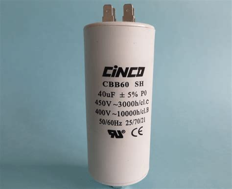 Kapasitor 40 Uf 1 5 Uf 400 Vac 40uf 400v 450vac cbb60a motor run capacitors cinco capacitor china ac capacitors factory