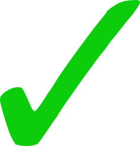 green tick clip art at clker com vector clip art online
