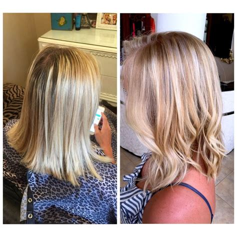 calgary salons that use olaplex before after partial highlight using olaplex on her base