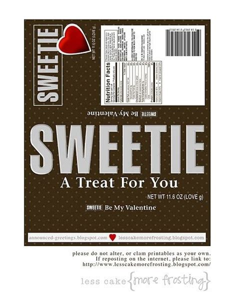 Valentines Cards For Size Bar Template by 42 Best Images About Printable Candybar Wrapper On
