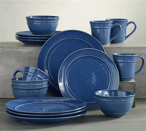 pottery barn china cambria 16 piece dinnerware set blue pottery barn