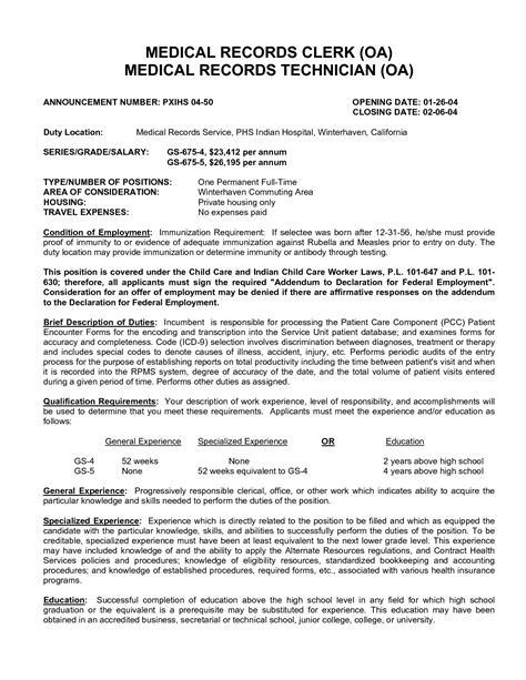 medical records clerk resume medical records clerk resume billing