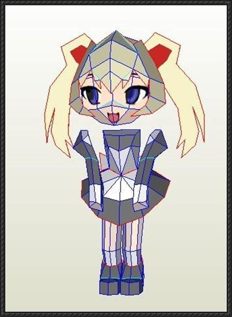 Chibi Anime Papercraft - anime papercraft chibi mamiya free template