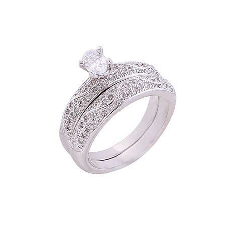 2017 wedding engagement ring white gold pair bridal can