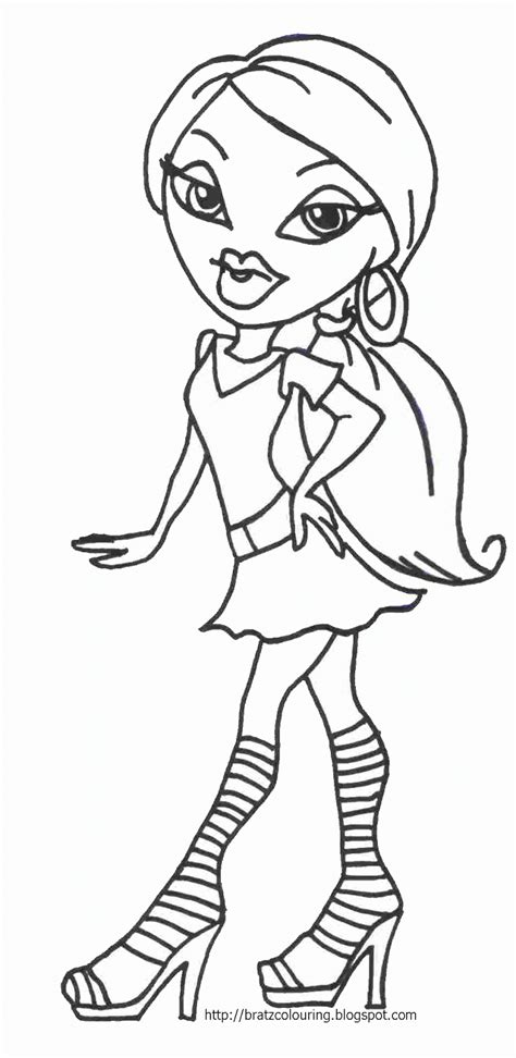 coloring pages bratz dolls bratz coloring pages