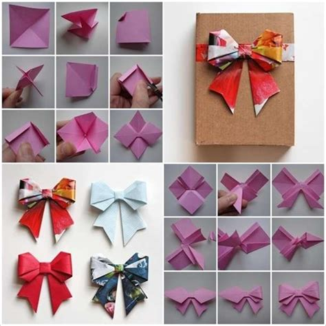 Origami Hello Bow - these origami paper bows are so amazing